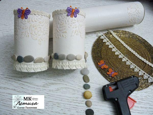 На память о лете, или Как морские камушки нашли применение для использования в декоре баночек | Ярмарка Мастеров - ручная работа, handmade