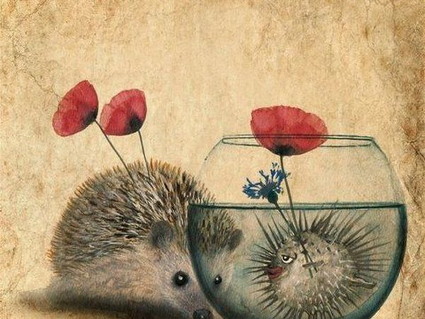 Ребятам о зверятах от художника Anne Boux | Ярмарка Мастеров - ручная работа, handmade