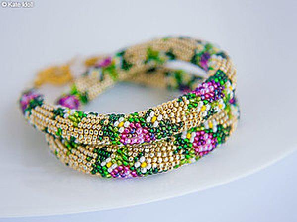 Вяжем бисерный жгут крючком | Ярмарка Мастеров - ручная работа, handmade