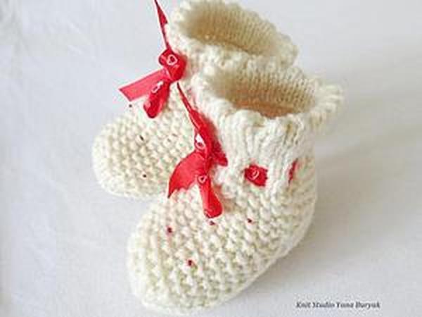 Вяжем носочки для новорожденного | Ярмарка Мастеров - ручная работа, handmade