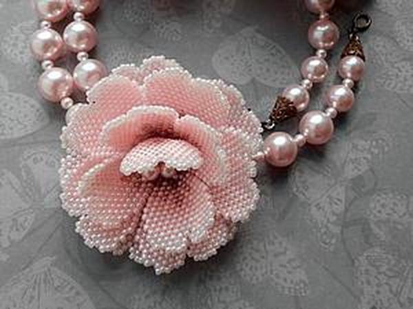 Как сделать маленький цветок из бисера   Ярмарка Мастеров - ручная работа, handmade