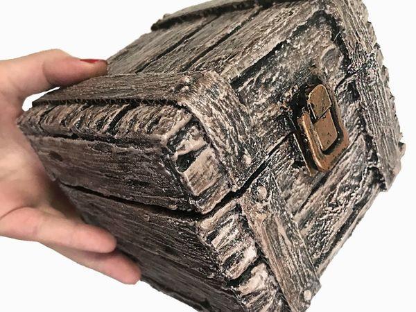 Создаем сундучок из картона   Ярмарка Мастеров - ручная работа, handmade