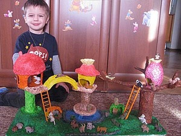 Сказочный лес Папье-Маше | Ярмарка Мастеров - ручная работа, handmade