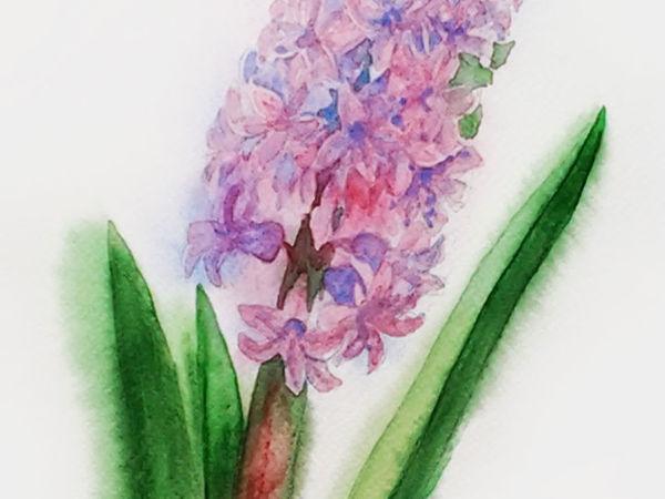 Рисуем бледно-розовый гиацинт по памяти | Ярмарка Мастеров - ручная работа, handmade