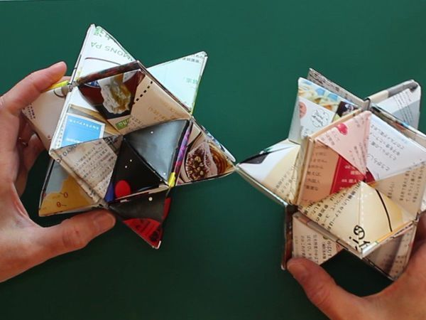 Видео мастер-класс: складываем звезду и куб «Yoshimoto». Прочная игрушка без клея и скотча | Ярмарка Мастеров - ручная работа, handmade