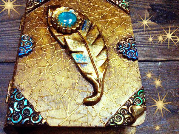 Шкатулка-книга  «Перо павлина»  — авторский МК Натальи Полех! | Ярмарка Мастеров - ручная работа, handmade
