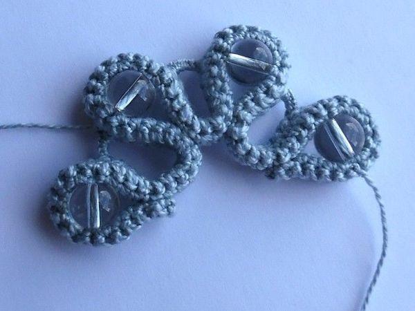 Делаем веерочек из вязаного жгута с бусинами   Ярмарка Мастеров - ручная работа, handmade