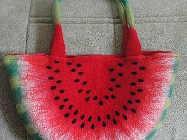 Мастер-класс по изготовлению сумочки «Арбузный ломтик» | Ярмарка Мастеров - ручная работа, handmade