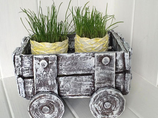 Creating Handmade Cardboard Pots   Livemaster - handmade