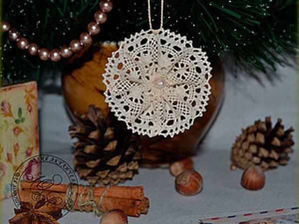 МК «Снежинка для исполнения желаний» | Ярмарка Мастеров - ручная работа, handmade