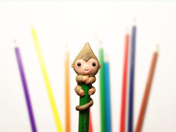 Видео мастер-класс: лепим забавную обезьянку на карандаш | Ярмарка Мастеров - ручная работа, handmade