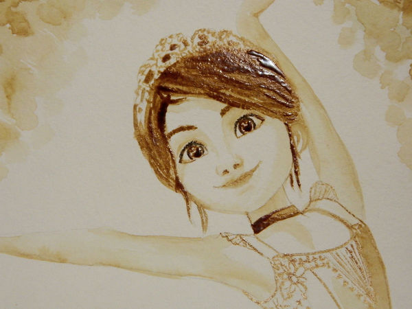 Видео мастер-класс: рисуем цикорием балерину из мультфильма   Ярмарка Мастеров - ручная работа, handmade