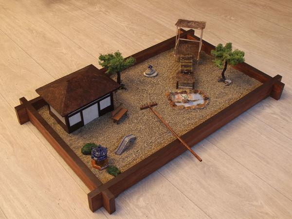 Создаем сад Дзен для медитации в миниатюре   Ярмарка Мастеров - ручная работа, handmade