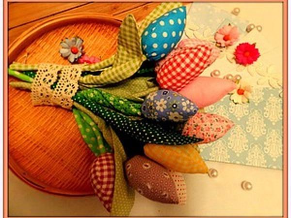 Мастер-класс для новичков: шьем текстильные тюльпаны в стиле тильда   Ярмарка Мастеров - ручная работа, handmade