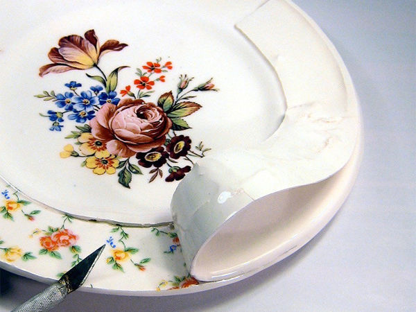 Soul of Dishes: Artist Found out What is Inside Porcelain Set and Cut It | Livemaster - hecho a mano - handmade