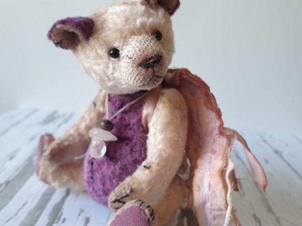 Мишка Розовый кварц   Ярмарка Мастеров - ручная работа, handmade