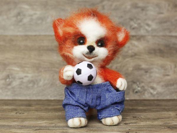 Валяем рыжего котенка  — интерьерную игрушку | Ярмарка Мастеров - ручная работа, handmade