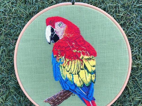 Поразительные птицы, вышитые Lucy в технике живопись иглой   Ярмарка Мастеров - ручная работа, handmade
