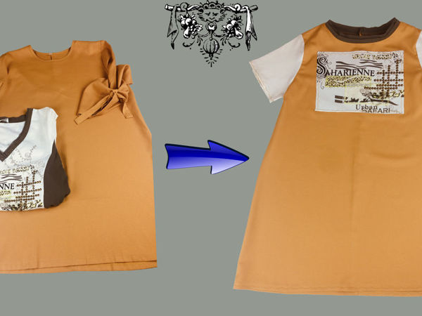 Перешиваем тунику в стильное детское платье | Ярмарка Мастеров - ручная работа, handmade