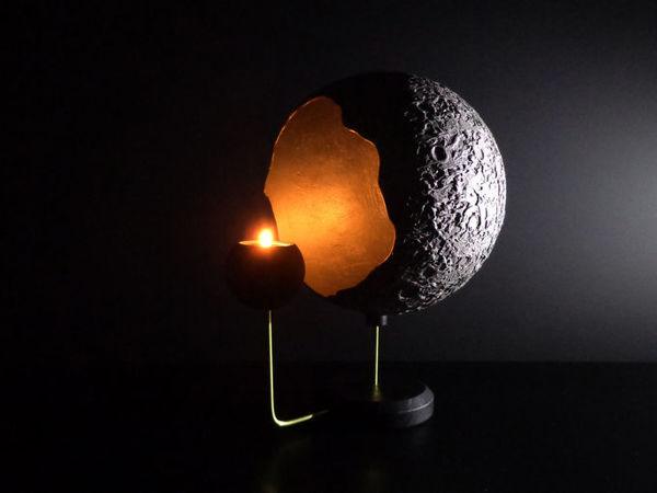 Светильник подсвечник Тёмная сторона Луны   Ярмарка Мастеров - ручная работа, handmade
