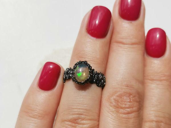 Видео кольца с опалом | Ярмарка Мастеров - ручная работа, handmade