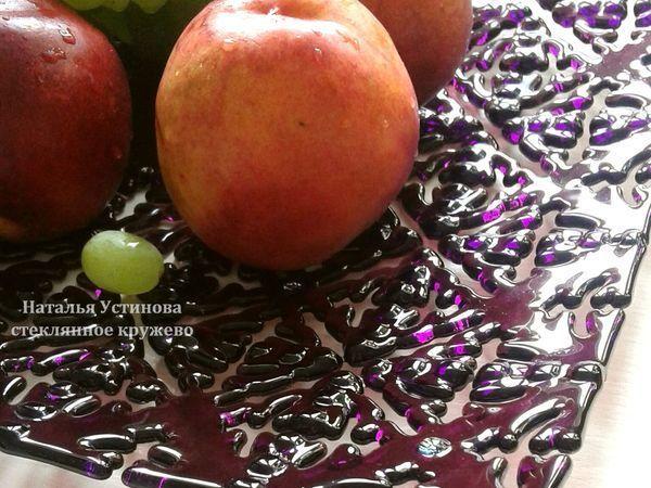 Создаем ажурное блюдо из стекла «Стеклянное кружево»   Ярмарка Мастеров - ручная работа, handmade