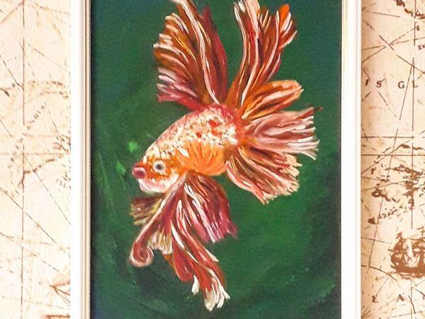 Видео-обзор моей работы  «Золотая рыбка»   Ярмарка Мастеров - ручная работа, handmade