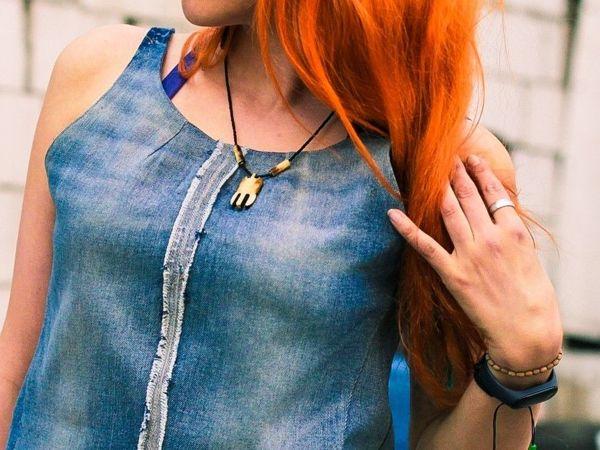 Шьем майку из джинсов | Ярмарка Мастеров - ручная работа, handmade