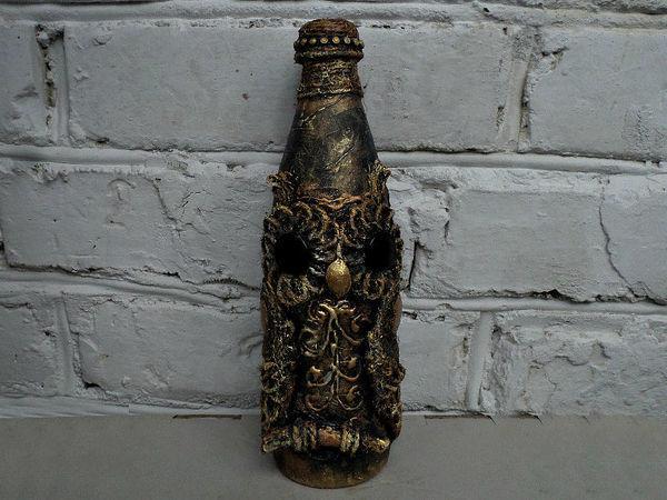 Создаем оформление бутылки «Сова» | Ярмарка Мастеров - ручная работа, handmade