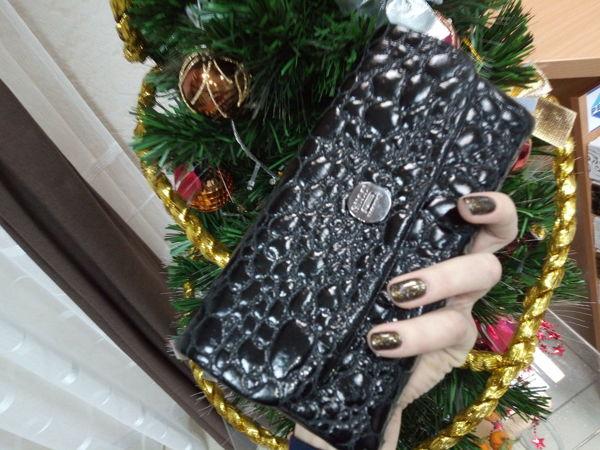 Шьем кошелек с клапаном (под кожу крокодила) | Ярмарка Мастеров - ручная работа, handmade