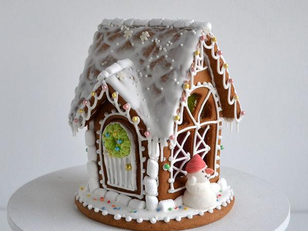 Собираем и расписываем пряничный домик с витражными окнами   Ярмарка Мастеров - ручная работа, handmade