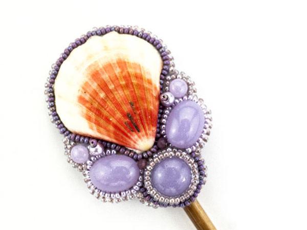 Шпилька для волос с ракушкой.Украшение для волос ручной работы | Ярмарка Мастеров - ручная работа, handmade