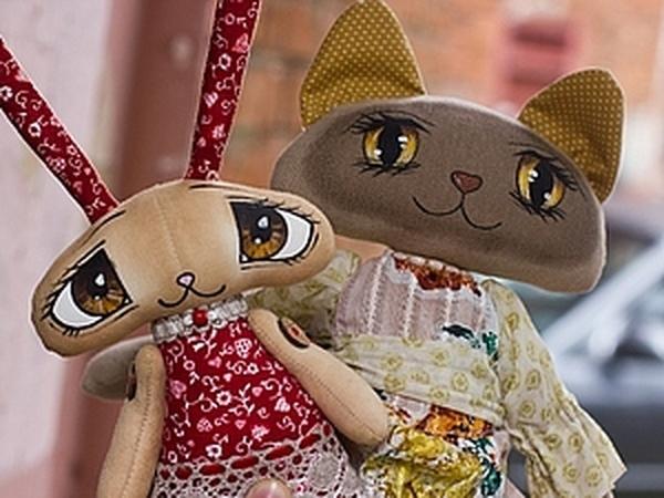 Мастер-класс   Текстильная кошка с расписными глазами.   Ярмарка Мастеров - ручная работа, handmade
