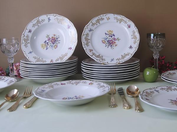Набор тарелок Мейсенский букет Weimar Германия | Ярмарка Мастеров - ручная работа, handmade