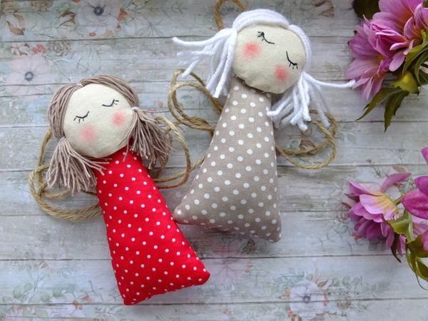 Sewing Simple Angels for Decoration | Livemaster - handmade