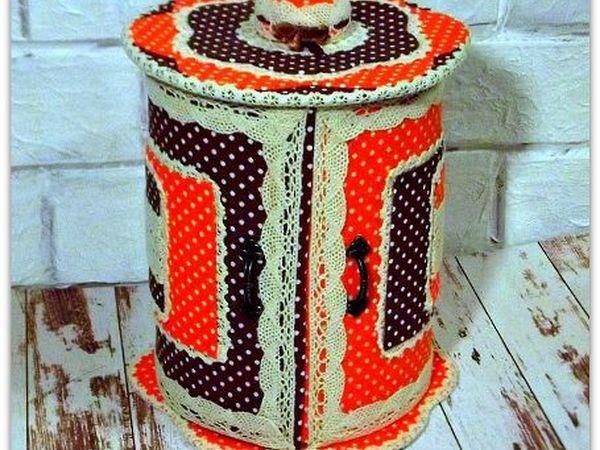Делаем круглую шкатулку для мелочей «Горошковый калейдоскоп»   Ярмарка Мастеров - ручная работа, handmade