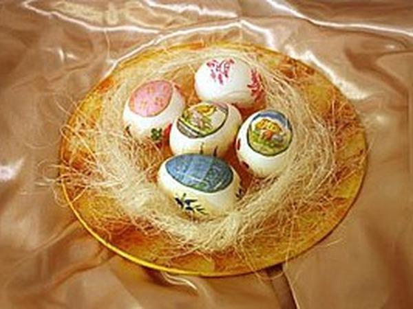 Декупаж к Пасхе: тарелочка и праздничные яйца | Ярмарка Мастеров - ручная работа, handmade