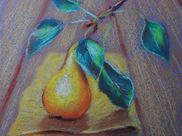 Рисуем пастелью осеннюю грушу   Ярмарка Мастеров - ручная работа, handmade