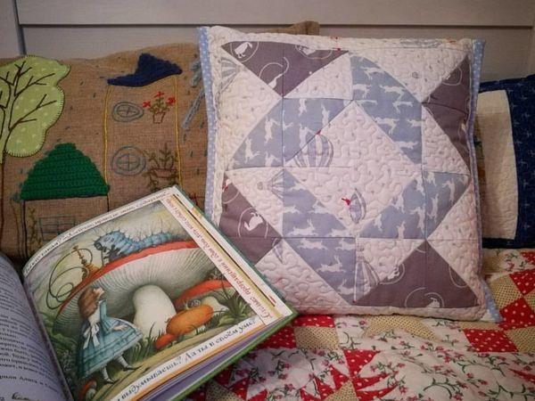 Шьем лоскутный чехол на подушку без молнии | Ярмарка Мастеров - ручная работа, handmade