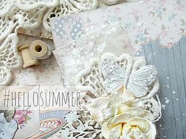Делаем открыточку «Lovely summer»   Ярмарка Мастеров - ручная работа, handmade
