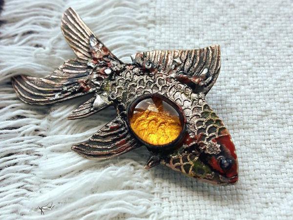 Паяем золотую рыбку из латуни и олова | Ярмарка Мастеров - ручная работа, handmade