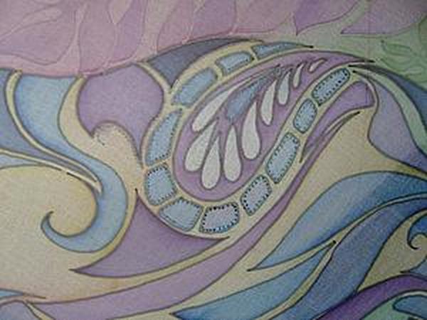 Расписываем шарф | Ярмарка Мастеров - ручная работа, handmade