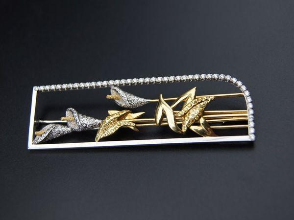 Видео обзор Броши с бриллиантами и сапфирами | Ярмарка Мастеров - ручная работа, handmade
