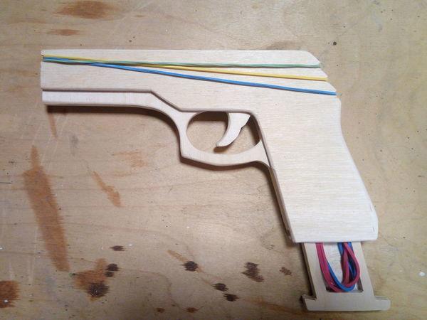 Мастерим пистолет-резинострел из фанеры | Ярмарка Мастеров - ручная работа, handmade