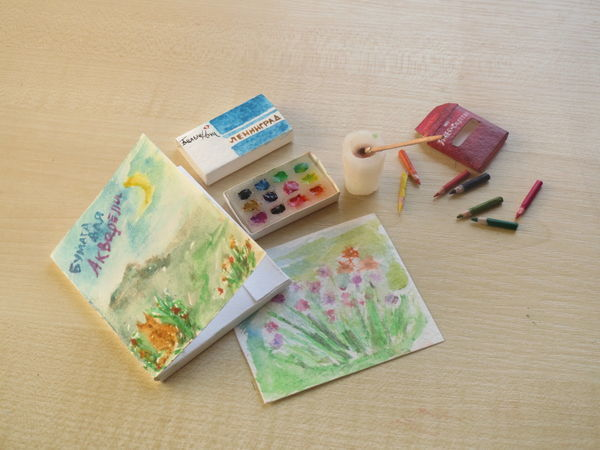Мастерим кукольные миниатюры. Краски, кисти, карандаши | Ярмарка Мастеров - ручная работа, handmade