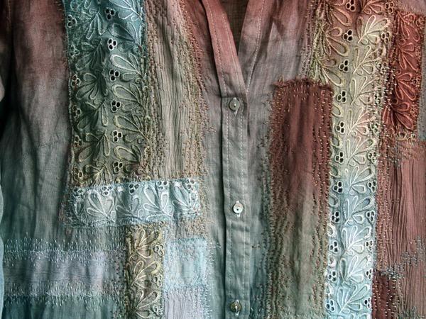 Как «уделать» новую рубашку: эксперимент в стиле боро | Ярмарка Мастеров - ручная работа, handmade