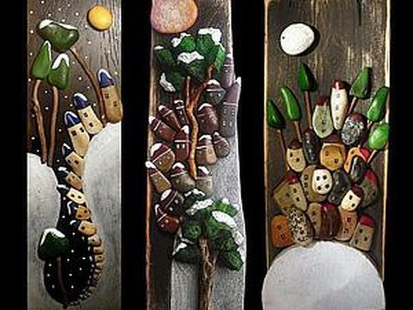 Потрясающие работы из камешков! | Ярмарка Мастеров - ручная работа, handmade
