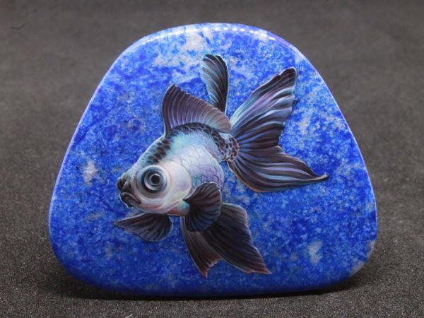 Рыба телескоп на лазурите. Аукцион   Ярмарка Мастеров - ручная работа, handmade