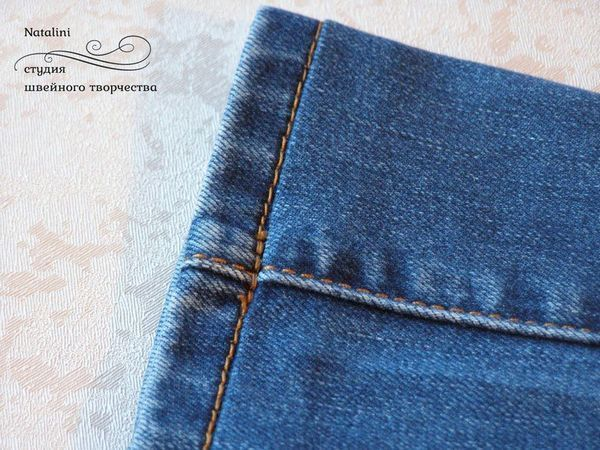 How to Shorten Jeans Preserving Their Acid Washed Edges | Livemaster - handmade