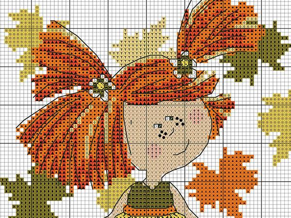 Влюбленные в осень: 50+ схем для вышивки крестиком | Ярмарка Мастеров - ручная работа, handmade
